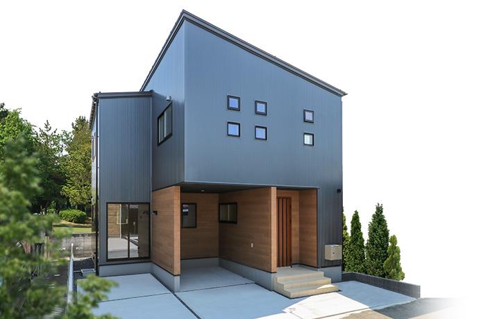インナーガレージ付きの3LDK住宅